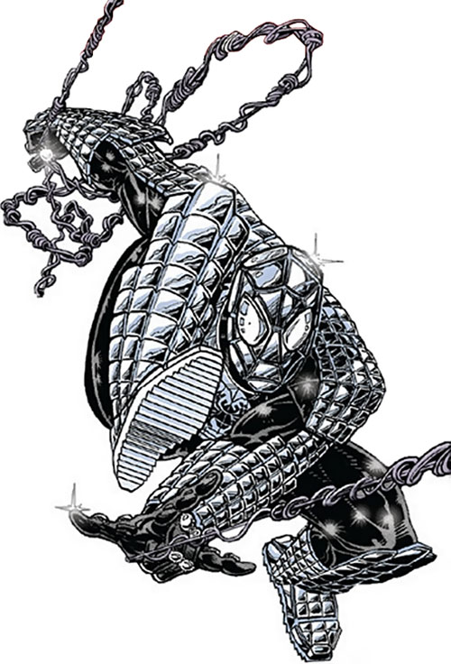 Spider-Man (Marvel Comics) (Peter Parker) - silvery armored costume