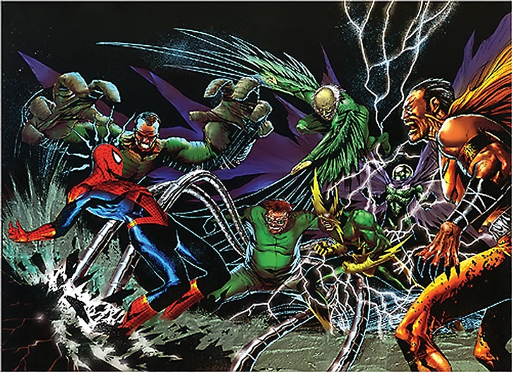 Spider-Man (Peter Parker) vs. the Sinister Six