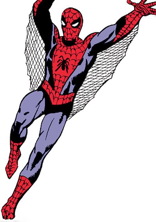Early Spider-Man (Marvel Comics Lee Ditko) swinging down