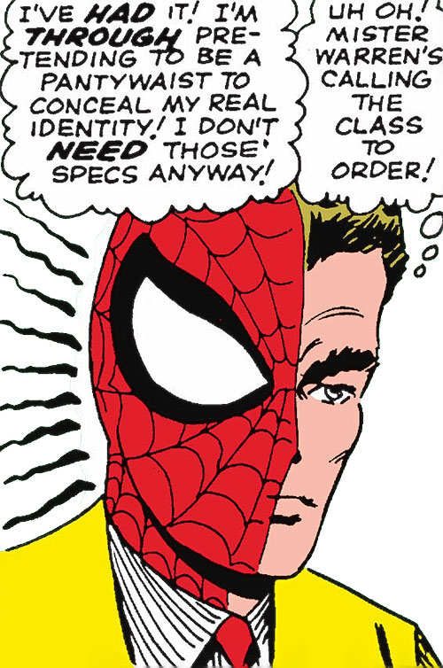 Early Spider-Man (Marvel Comics Lee Ditko) spider-sense