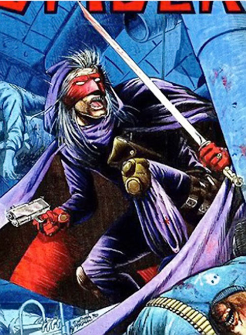 Spider Master of Men (Pulp vigilante) (Truman version) cover detail