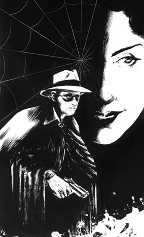 Spider Master of Men (Pulp vigilante) cover detail B&W