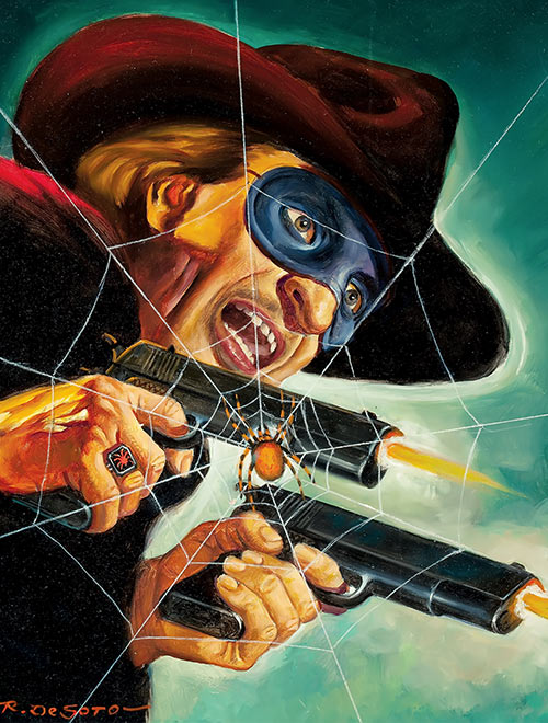Spider painted pulps cover by R. Desoto