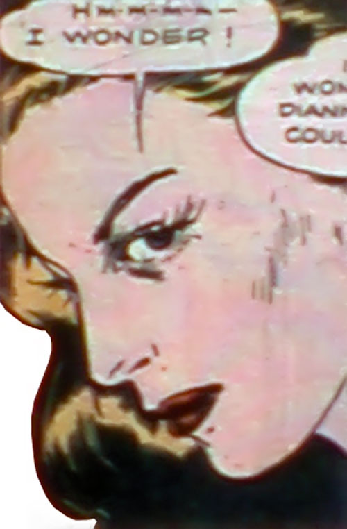 Spider Widow (Quality Comics) face closeup side view