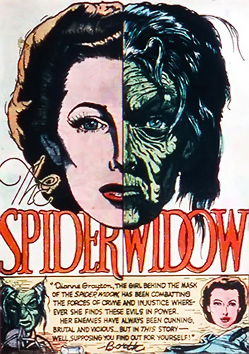 Spider Widow (Quality Comics) splash page