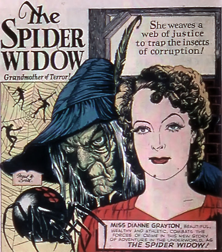 The Spider Widow (Dianne Grayton) splash page