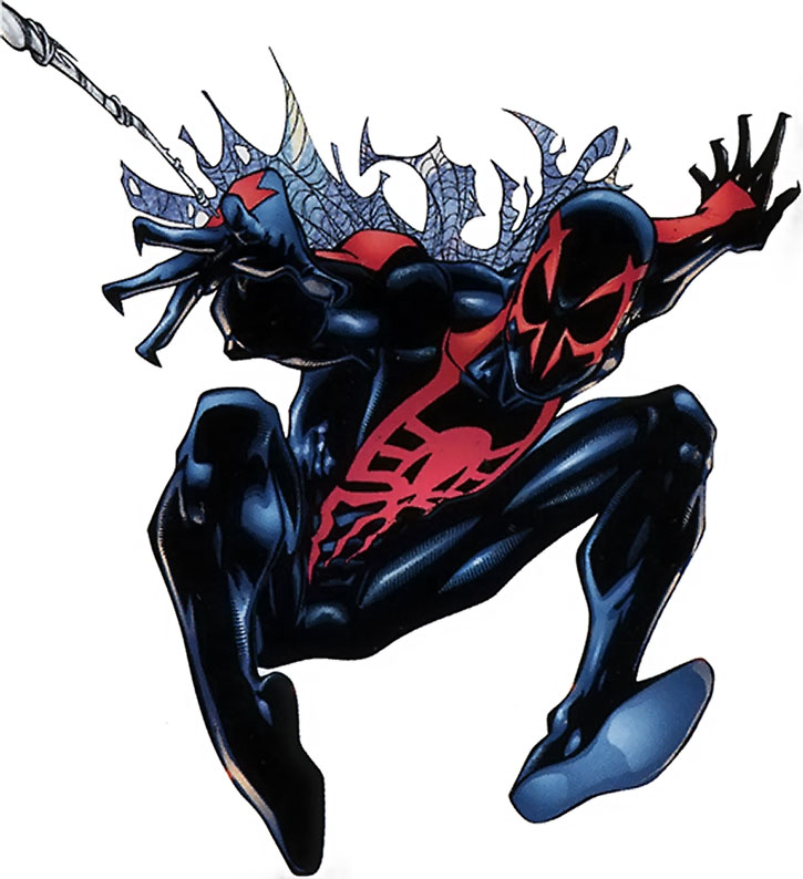 Spider-Man 2099 (Miguel O'Hara) on a white background