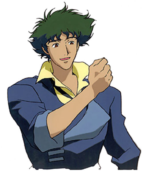 Spike Siegel (Cowboy Bebop) looking enthusiastic