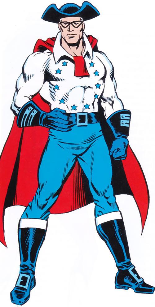 Spirit of '76 (Captain America character) from the 1983 Marvel Comics handbook