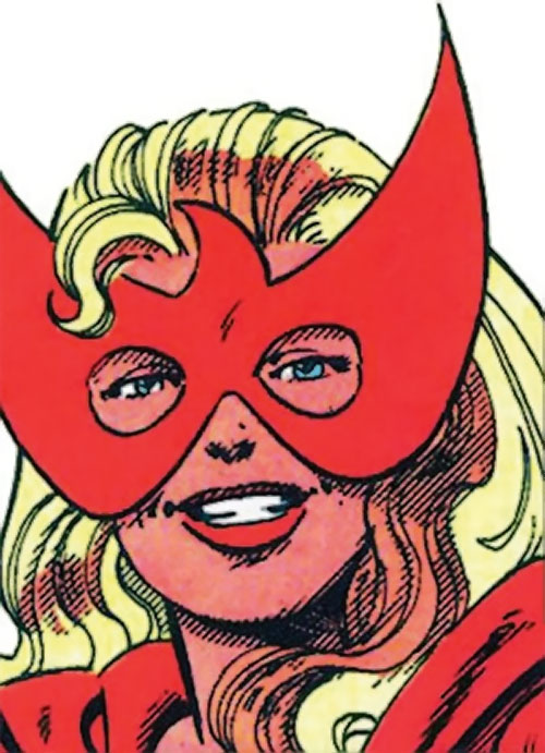 Spitfire of the Invaders (Marvel Comics) (early wartime) face closeup