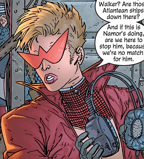 Spitfire of the New Invaders (Marvel Comics) (Jacqueline Falsworth) with her designer shades