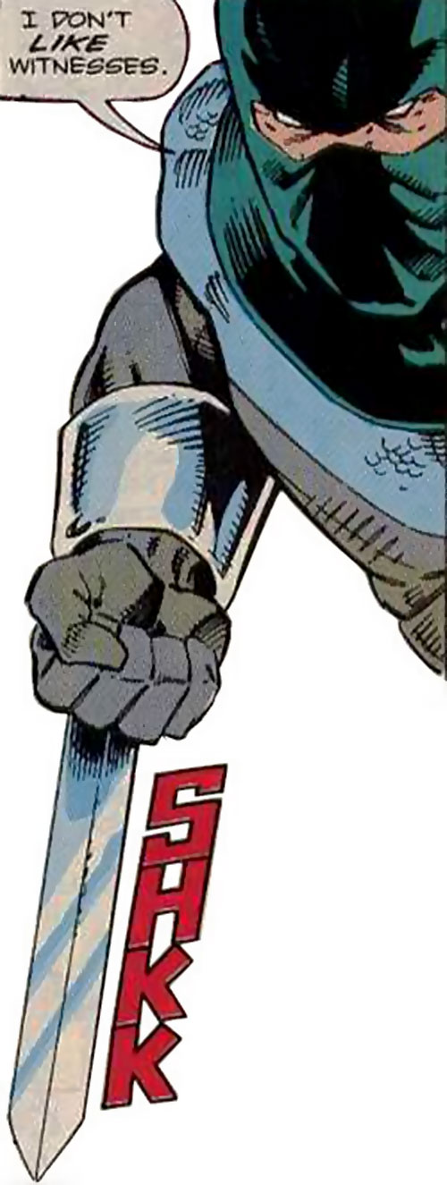 Splice (Wonder Man enemy) (Marvel Comics) and his wrist blades