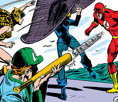 Sportsmaster (DC Comics Golden Age) and Huntress vs. Black Canary and the Flash