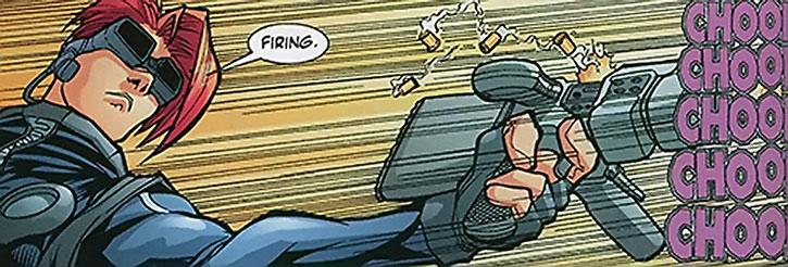 Spyboy fires his gun