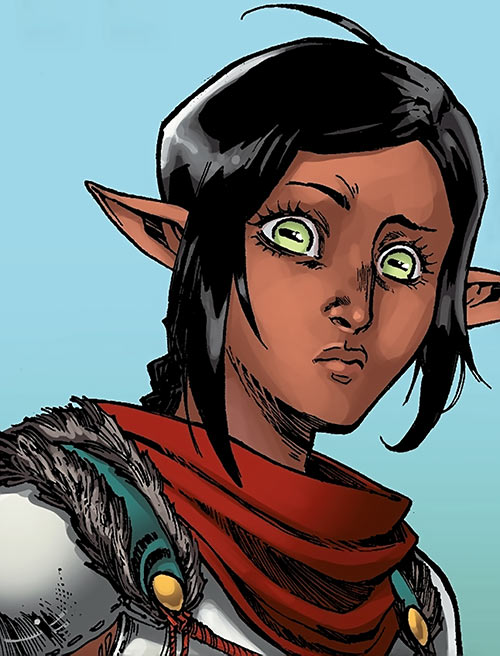 Squire Vaea - Dragon Age Knight Errant comics - reaction face