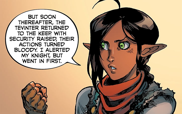 Squire Vaea - Dragon Age Knight Errant comics - I can explain !