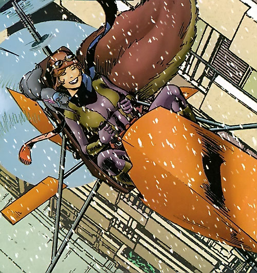 Squirrel Girl (Marvel Comics) in her mini-helicopter