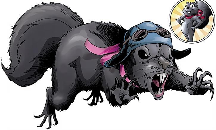 Tippy Toe - Squirrel Girl's friend - Marvel Comics - Handbook art