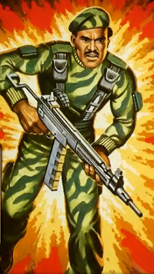Stalker (G.I. Joe) (Marvel Comics) blister pack illustration