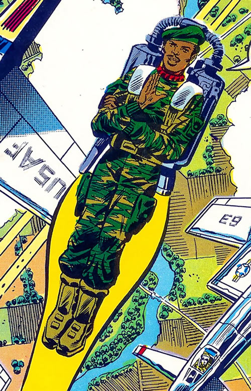 Stalker (G.I. Joe) (Marvel Comics) jet pack