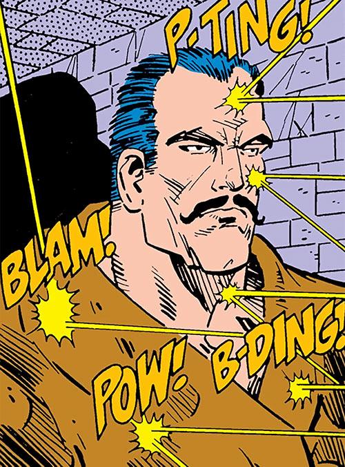 Stalnoivolk (DC Comics) ignoring gunfire