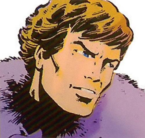 Star-Lord original look (Marvel Comics) face closeup