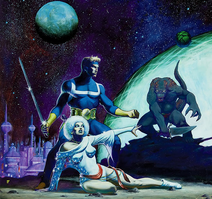 Star Lord - Marvel Comics - Jim Starlin painted art - Marvel preview