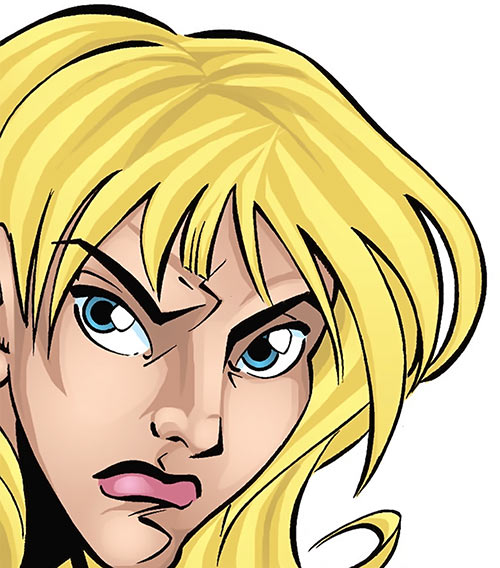 Star-Spangled Kid (Courtney Whitmore) (early, pre-Stargirl) (DC Comics) face closeup