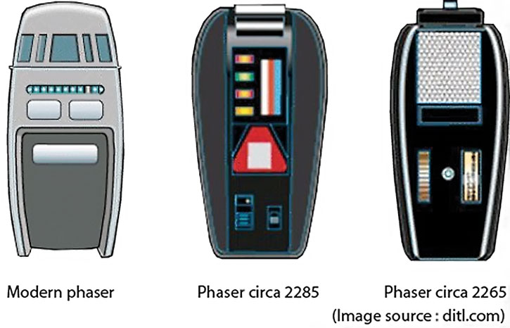 Type 1 Star Trek phaser remotes