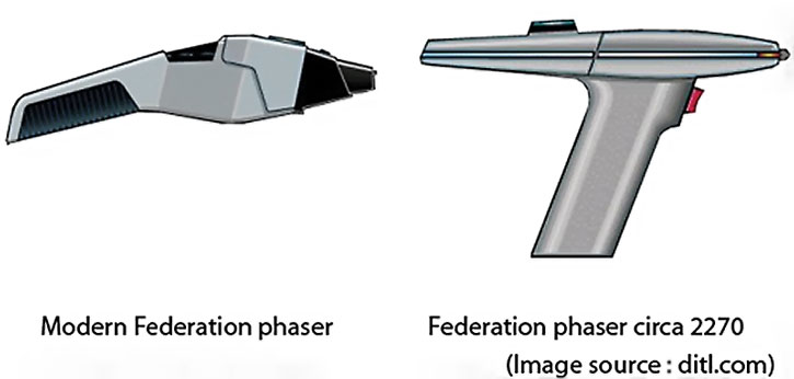 Type 2 Star Trek phaser pistols