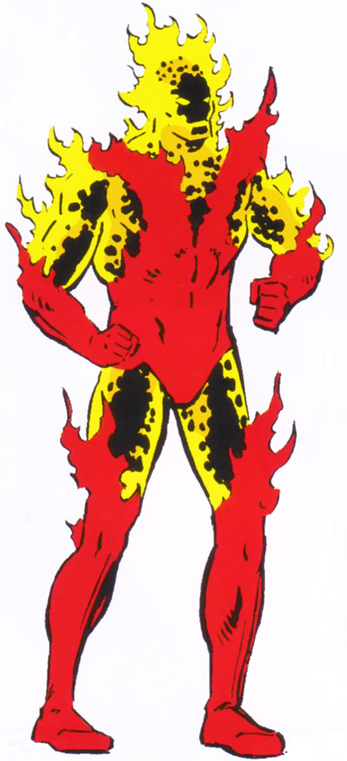Starbolt Shi'ar imperial guard from the 1983 Official Marvel Comics Handbook