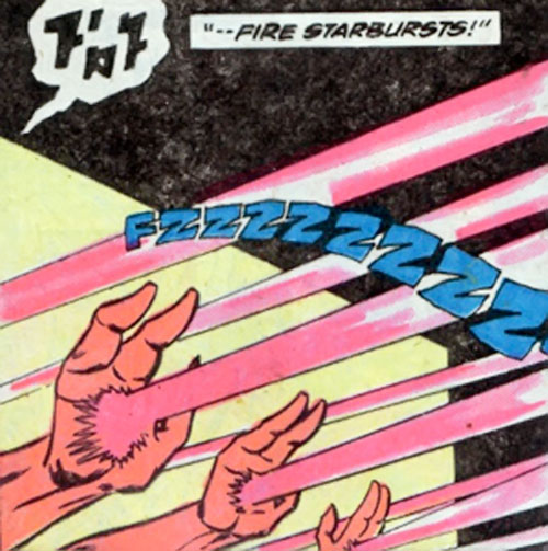 The Starburst Bandits (Legion of Super-Heroes enemies) (DC Comics) massed fire