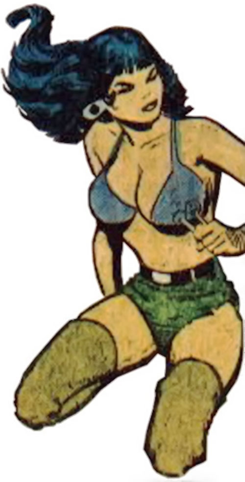Starfire (DC Comics Implosion) with the shorts and bra