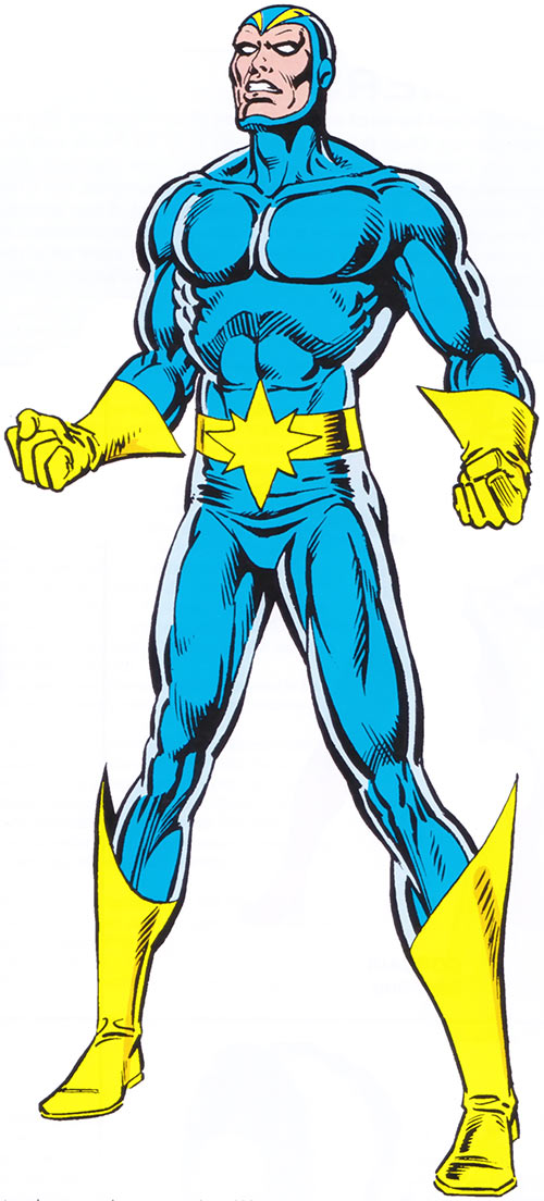 Starhawk of the Guardians of the Galaxy in the 1983 Marvel Comics handbook