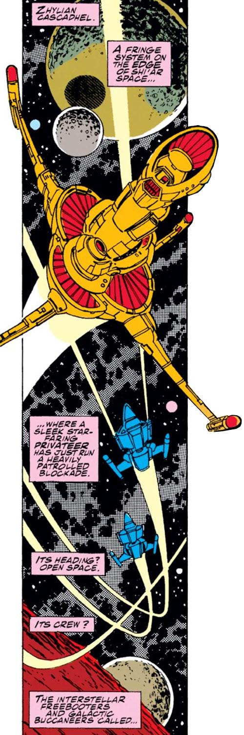 Starjammer spaceship (Marvel X-Men comics)