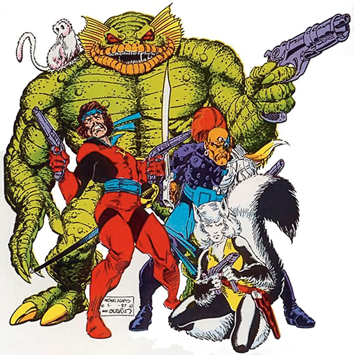The Starjammers by Art Adams, on a white background