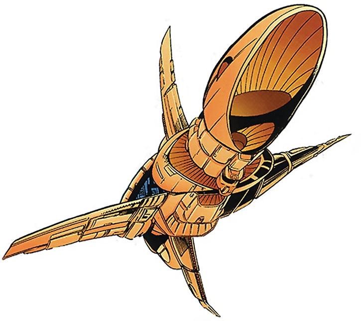 The HMSS Starjammer spaceship