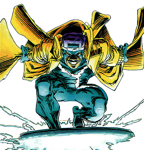 Static (Milestone Comics) with a yellow coat
