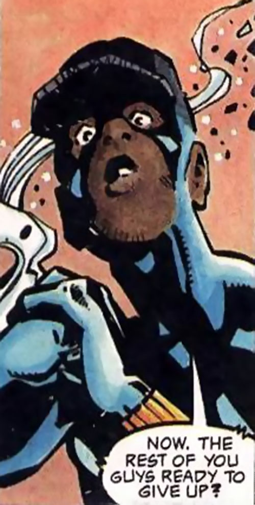 Static (Milestone Comics) surprised face closeup