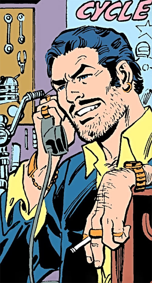 Steamroller (Demolition Team) (DC Comics) in his civvies