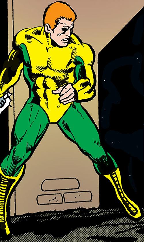 Steel-Fist Feeny (Black Lightning enemy) (DC Comics) in an alley