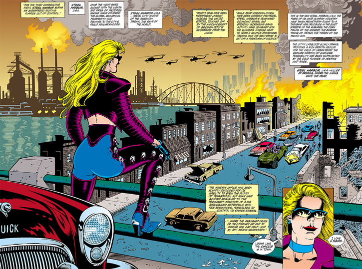 A Steel Harbor street and Barb Wire