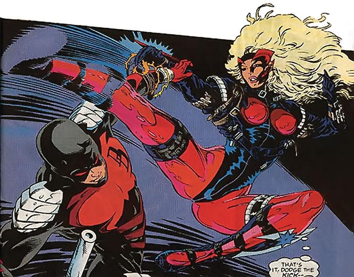 Steel Raven (Aranda Charboneau) vs. Daredevil