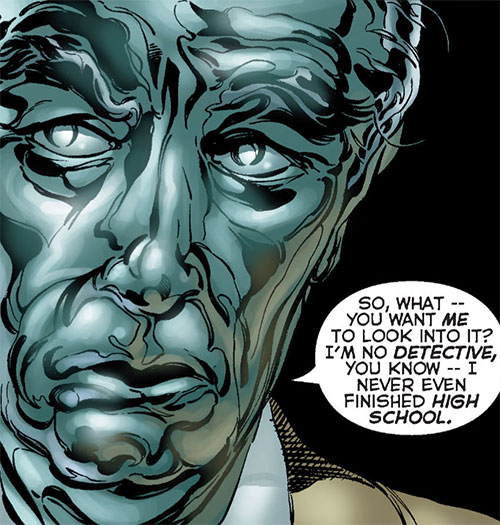 Steeljack (Astro City Comics) (Tarnished Angel) face closeup