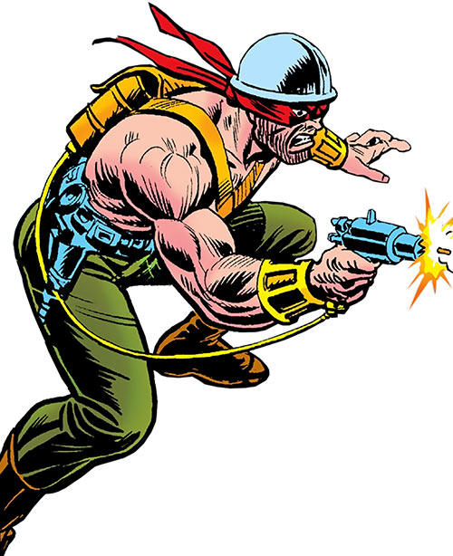 Steeplejack (Mallard) (Marvel Comics) using his special pistol