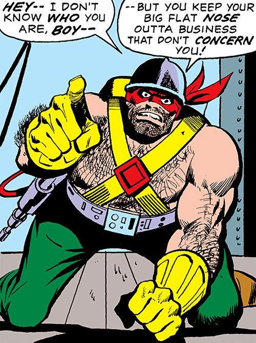 Steeplejack (Mallard) (Marvel Comics) being threatening and racist