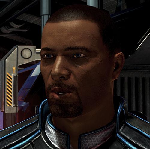 Steve Cortez (Mass Effect) face closeup