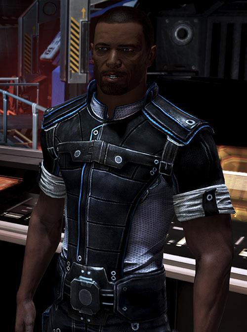 Steve Cortez (Mass Effect) talking