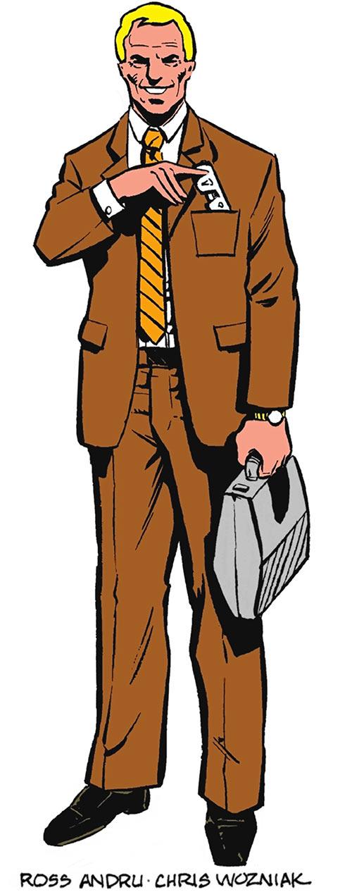 Steve Trevor - Wonder Woman - DC Comics- Andru and Wozniak art from the 1980s Who's Who