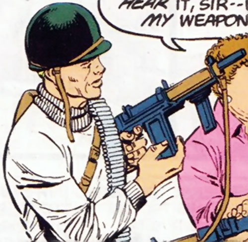Steve Trevor (Wonder Woman ally) (Post-Crisis DC Comics) with WW2 infantry gear